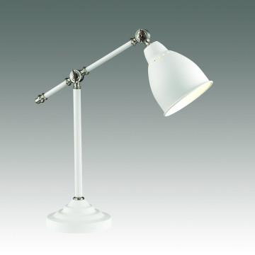 Настольная лампа Odeon Light Cruz 3372/1T, 1xE27x60W, белый, никель, металл