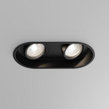 Встраиваемый светильник Astro Minima 1249029 (5828), 2xGU10x6W, черный, металл
