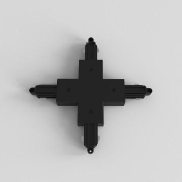 X-образный соединитель для шинопровода Astro Track 6020020 (2232), черный, пластик