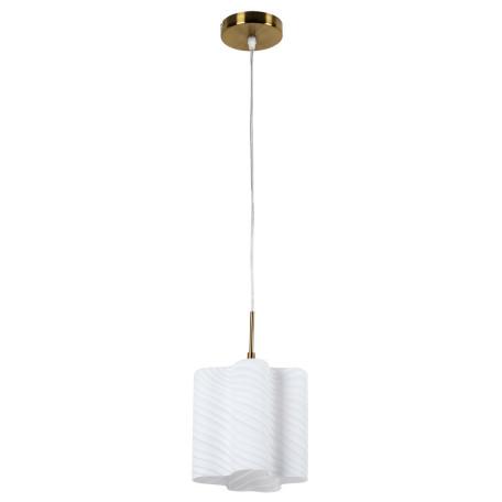 Подвесной светильник Arte Lamp Serenata A3458SP-1AB, 1xE27x40W, бронза, белый, металл, стекло