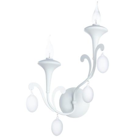 Бра Arte Lamp Montmartre A3239AP-2WH, 2xE14x40W, белый, металл, стекло