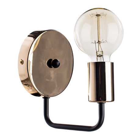 Бра Arte Lamp Gelo A6001AP-1BK, 1xE27x40W, золото, металл