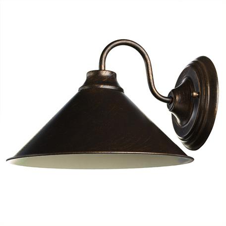Бра Arte Lamp Bevel A9330AP-1BR, 1xE27x60W, коричневый с золотой патиной, металл