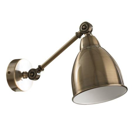 Бра с регулировкой направления света Arte Lamp Braccio A2054AP-1AB, 1xE27x60W, бронза, металл