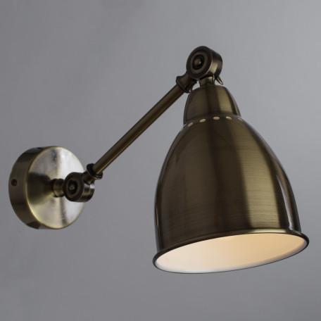 Бра с регулировкой направления света Arte Lamp Braccio A2054AP-1AB, 1xE27x60W, бронза, металл - миниатюра 2