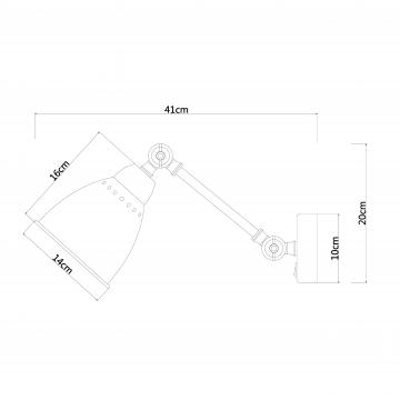 Схема с размерами Arte Lamp A2054AP-1AB