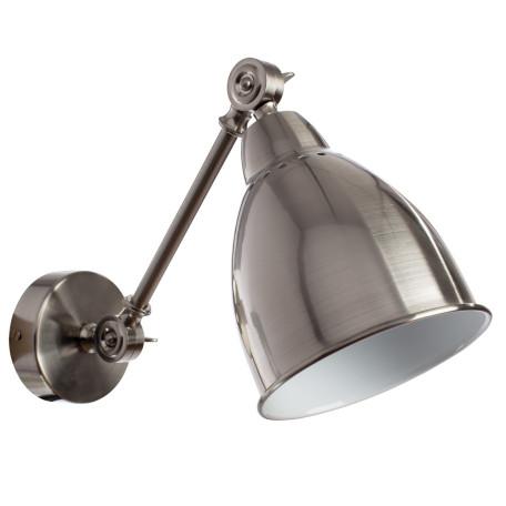Бра с регулировкой направления света Arte Lamp Braccio A2054AP-1SS, 1xE27x60W, серебро, металл