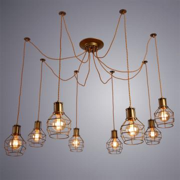 Люстра-паук Arte Lamp Interno A9182SP-8BZ, 8xE27x60W, бронза, металл