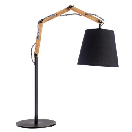 Настольная лампа Arte Lamp Pinocchio A5700LT-1BK, 1xE27x60W, черный, коричневый, металл, дерево, текстиль