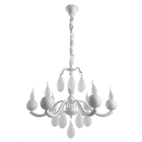 Подвесная люстра Arte Lamp Sigma A3229LM-6WH, 6xE14x40W, белый, металл, стекло