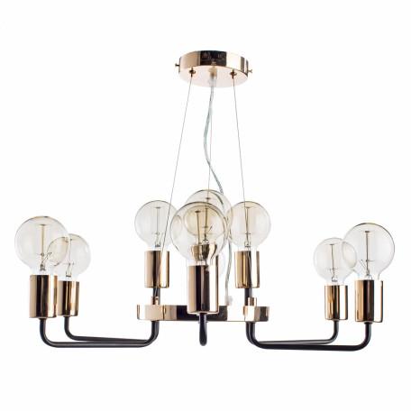 Подвесная люстра Arte Lamp Gelo A6001LM-9BK, 9xE27x40W, золото, металл