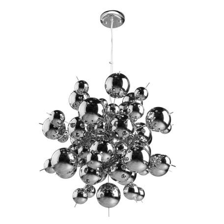 Подвесная люстра Arte Lamp Pluto A8313SP-9CC, 9xG9x40W, хром, металл, стекло