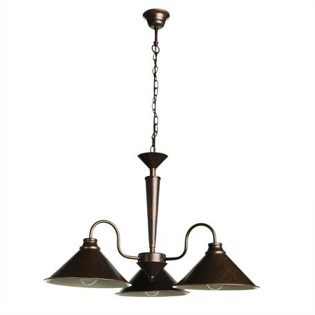 Подвесная люстра Arte Lamp Bevel A9330LM-3BR, 3xE27x60W, коричневый с золотой патиной, металл