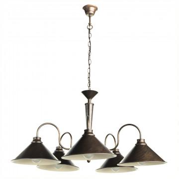 Подвесная люстра Arte Lamp Bevel A9330LM-5BR, 5xE27x60W, коричневый с золотой патиной, металл