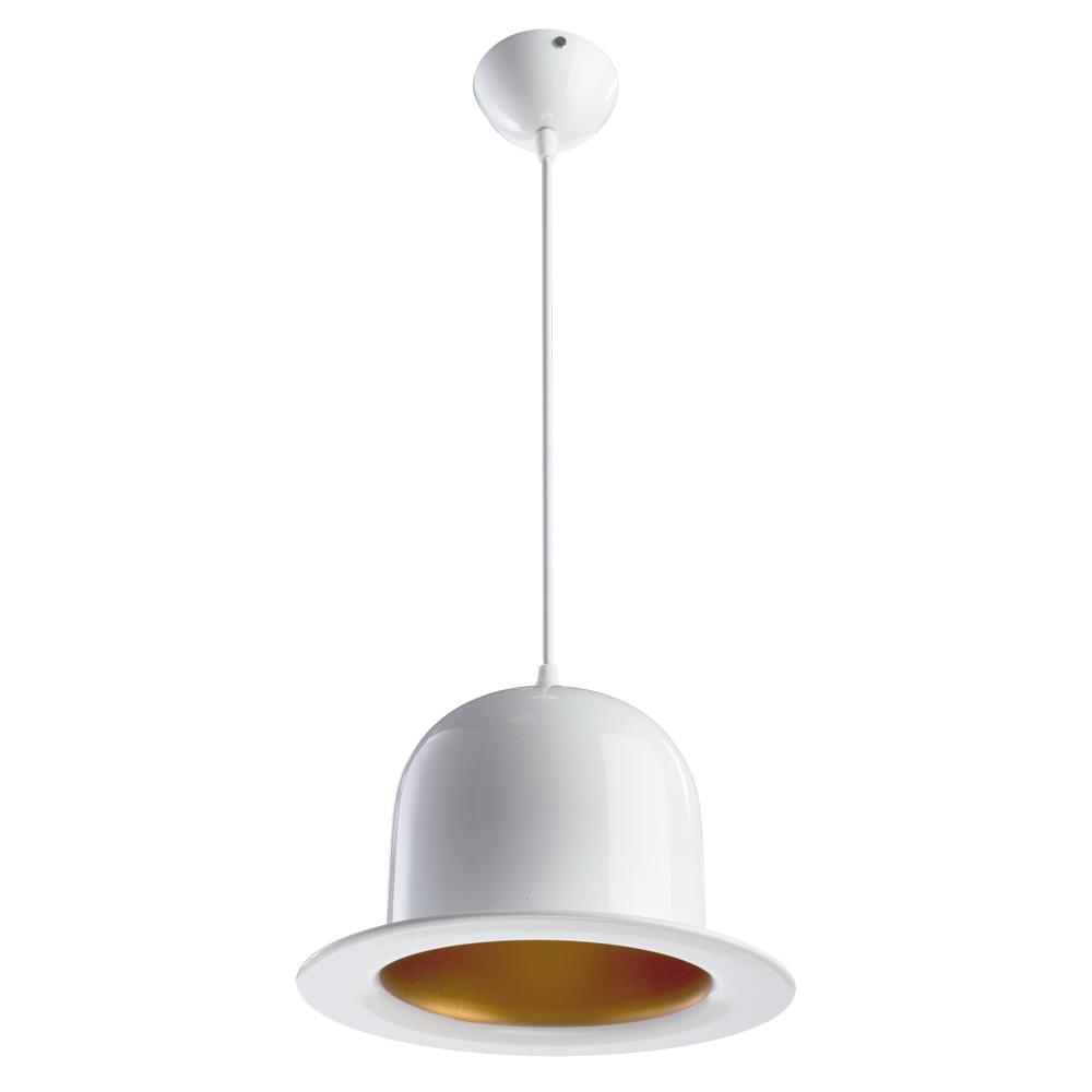 Подвесной светильник Arte Lamp Cappello A3234SP-1WH, 1xE27x40W, белый, золото, металл - фото 1