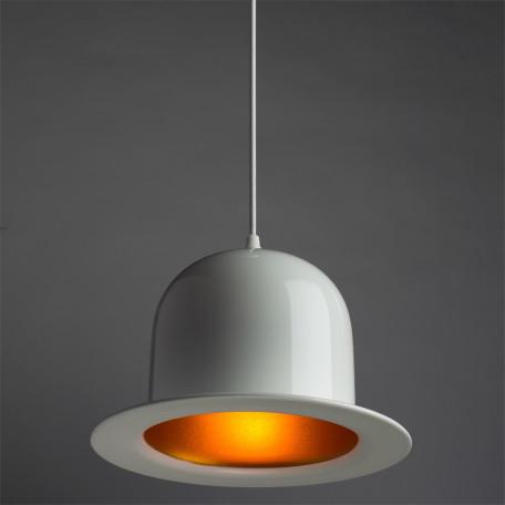 Подвесной светильник Arte Lamp Cappello A3234SP-1WH, 1xE27x40W, белый, золото, металл - миниатюра 2