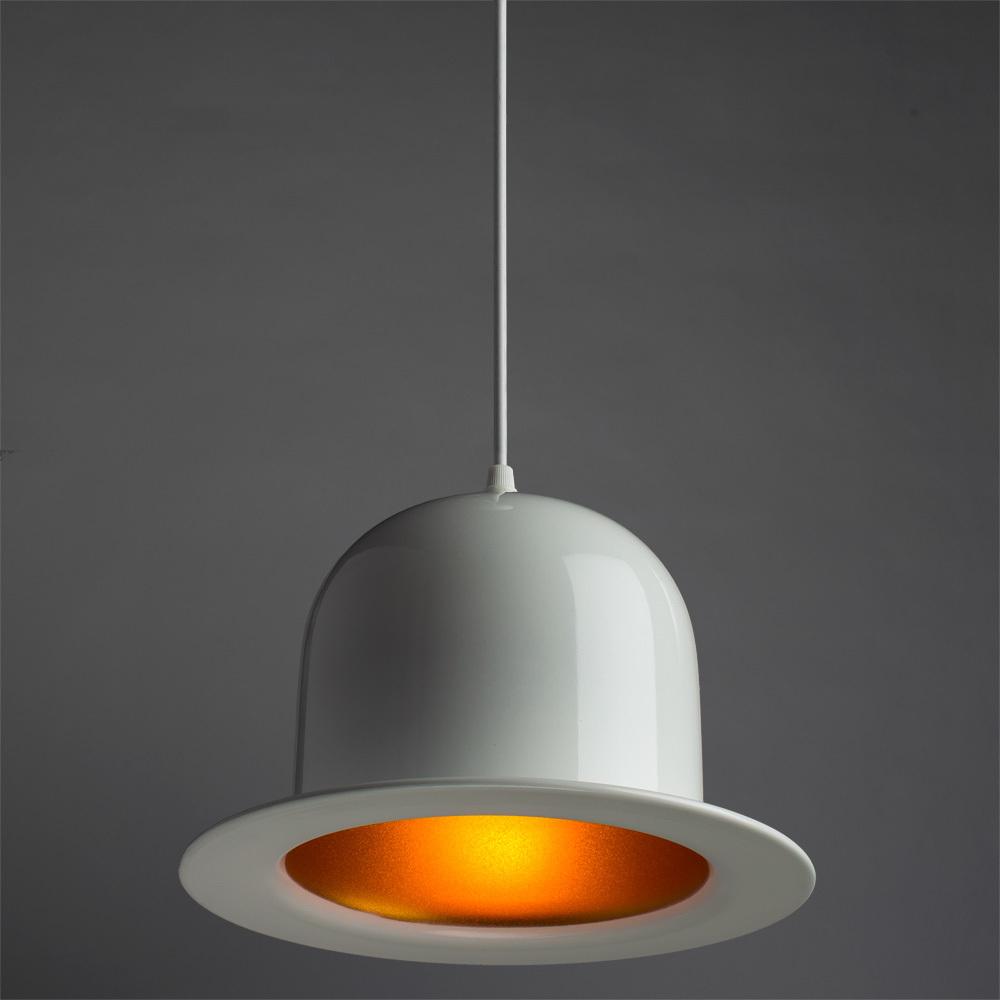 Подвесной светильник Arte Lamp Cappello A3234SP-1WH, 1xE27x40W, белый, золото, металл - фото 2