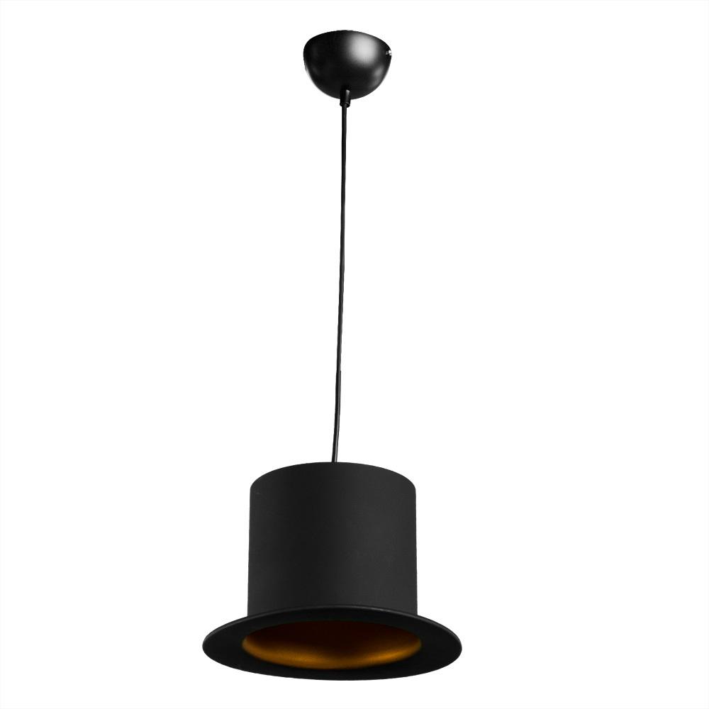 Подвесной светильник Arte Lamp Cappello A3236SP-1BK, 1xE27x40W, черный, золото, металл - фото 1