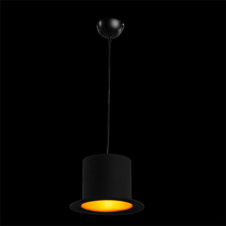 Подвесной светильник Arte Lamp Cappello A3236SP-1BK, 1xE27x40W, черный, золото, металл - миниатюра 2