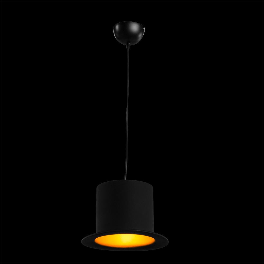 Подвесной светильник Arte Lamp Cappello A3236SP-1BK, 1xE27x40W, черный, золото, металл - фото 2