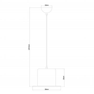 Схема с размерами Arte Lamp A3236SP-1BK