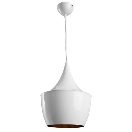 Подвесной светильник Arte Lamp Cappello A3407SP-1WH, 1xE27x40W, белый, золото, металл