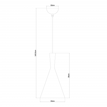 Схема с размерами Arte Lamp A3408SP-1BK