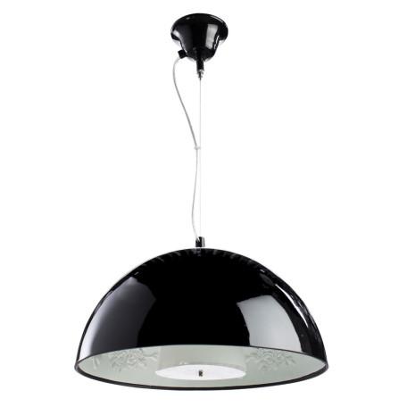 Подвесной светильник Arte Lamp Rome A4175SP-1BK, 1xE27x40W, черный, металл, пластик, стекло