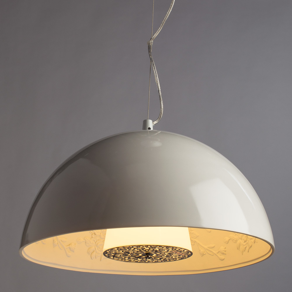 Подвесной светильник Arte Lamp Rome A4175SP-1WH, 1xE27x40W, белый, металл, пластик, стекло - фото 2