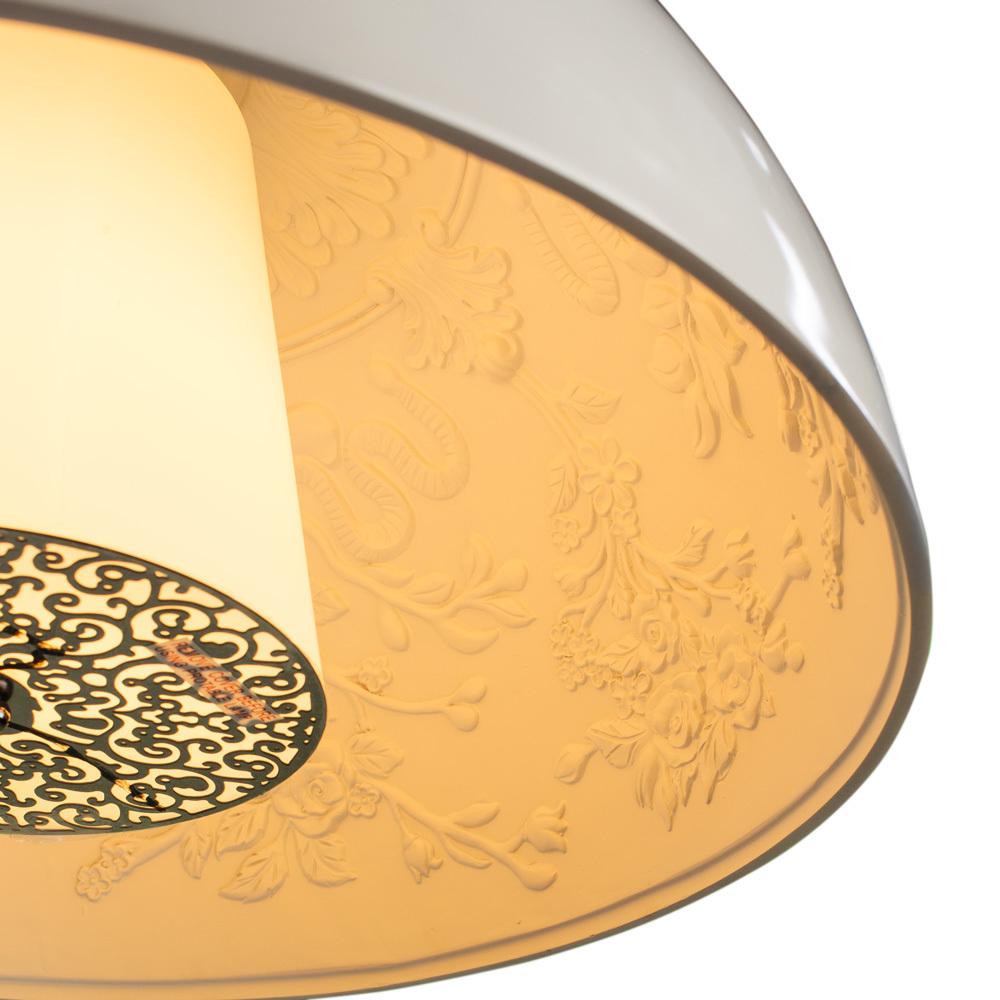 Подвесной светильник Arte Lamp Rome A4175SP-1WH, 1xE27x40W, белый, металл, пластик, стекло - фото 3