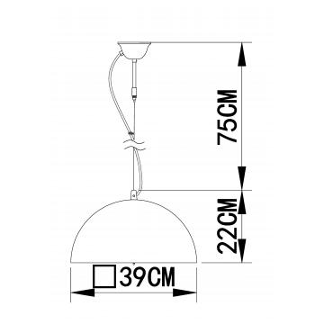 Схема с размерами Arte Lamp A4175SP-1WH