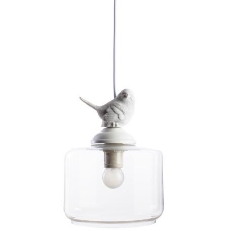 Подвесной светильник Arte Lamp Passero A8029SP-1WH, 1xE27x40W, белый, прозрачный, металл, стекло