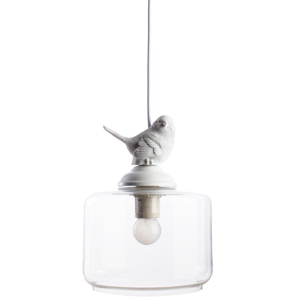 Подвесной светильник Arte Lamp Passero A8029SP-1WH, 1xE27x40W, белый, прозрачный, металл, стекло - фото 1