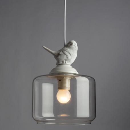 Подвесной светильник Arte Lamp Passero A8029SP-1WH, 1xE27x40W, белый, прозрачный, металл, стекло - миниатюра 2
