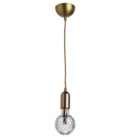 Подвесной светильник Arte Lamp Salute A8040SP-1SG, 1xG9x33W, матовое золото, прозрачный, металл, стекло