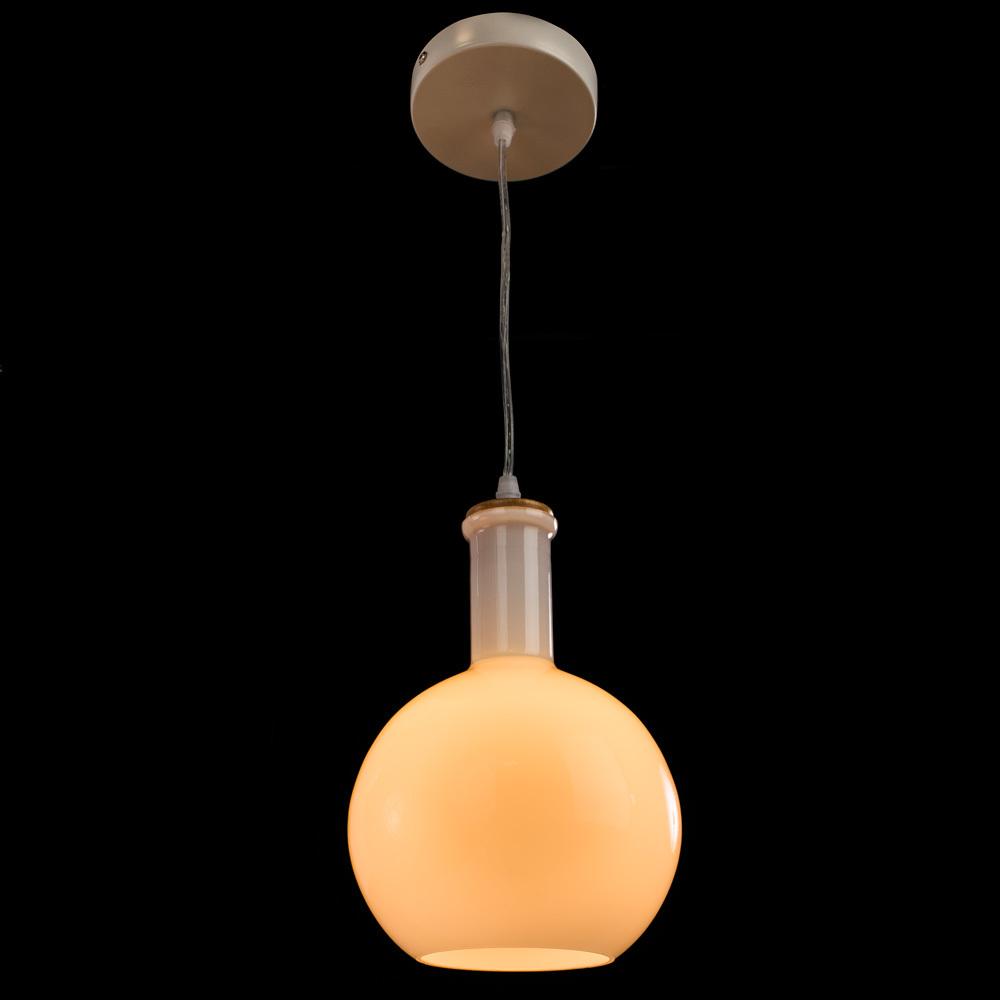 Подвесной светильник Arte Lamp Accento A8113SP-1WH, 1xE14x40W, белый, металл, стекло - фото 2