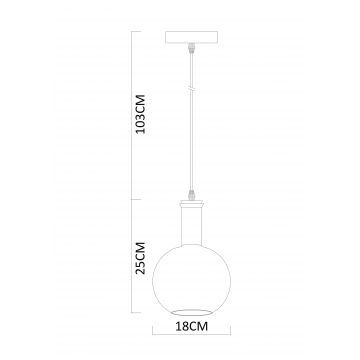 Схема с размерами Arte Lamp A8113SP-1WH