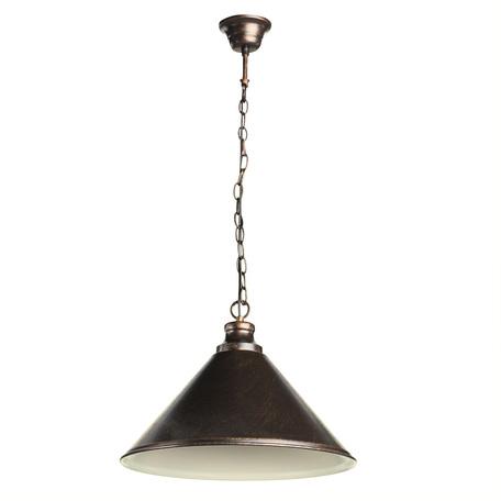 Подвесной светильник Arte Lamp Bevel A9330SP-1BR, 1xE27x75W, коричневый с золотой патиной, металл - миниатюра 1