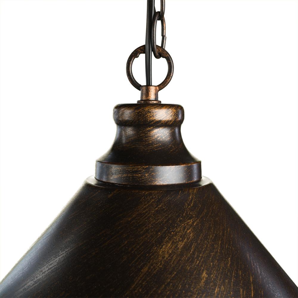 Подвесной светильник Arte Lamp Bevel A9330SP-1BR, 1xE27x75W, коричневый с золотой патиной, металл - фото 3