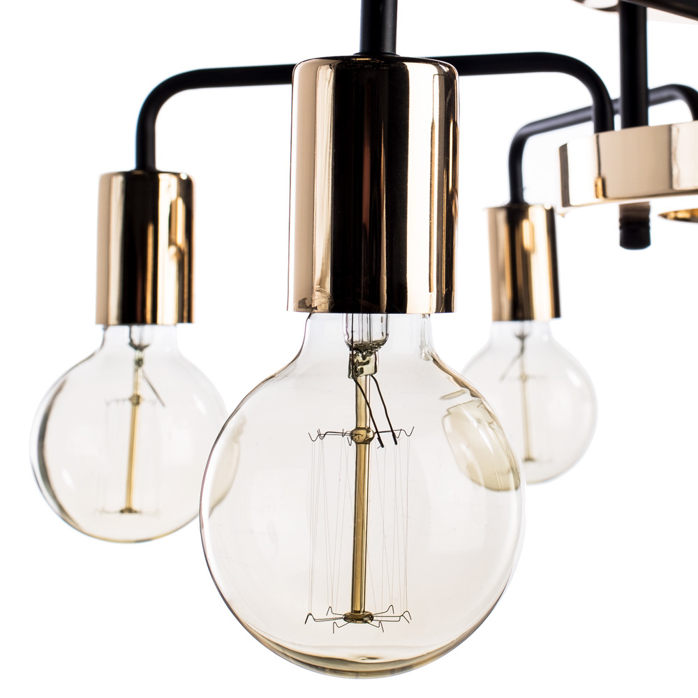 Потолочная люстра Arte Lamp Gelo A6001PL-7BK, 7xE27x40W, золото, металл - фото 3