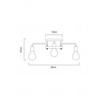 Схема с размерами Arte Lamp A6001PL-7BK
