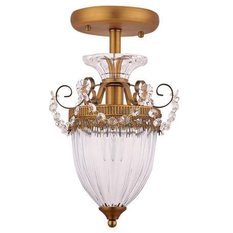 Потолочный светильник Arte Lamp Schelenberg A4410PL-1SR, 1xE14x40W, матовое золото, прозрачный, металл, стекло, хрусталь