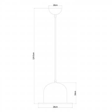 Подвесной светильник Arte Lamp Cappello A3234SP-1WH, 1xE27x40W, белый, золото, металл - миниатюра 4