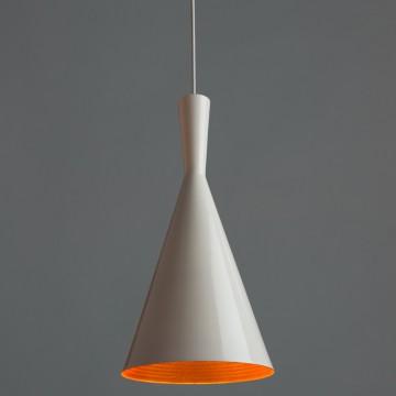 Подвесной светильник Arte Lamp Cappello A3408SP-1WH, 1xE27x40W, белый, золото, металл