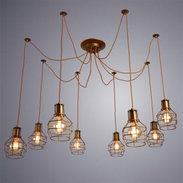 Люстра-паук Arte Lamp Interno A9182SP-8BZ, 8xE27x60W, бронза золотистая, металл