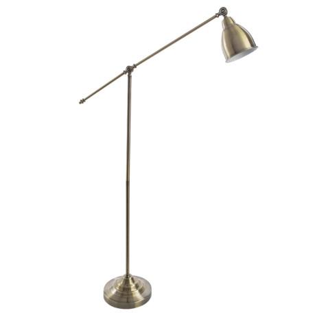 Торшер Arte Lamp Braccio A2054PN-1AB, 1xE27x60W, бронза, металл