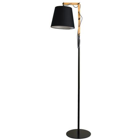 Торшер Arte Lamp Pinocchio A5700PN-1BK, 1xE27x60W, черный, коричневый, металл, дерево, текстиль