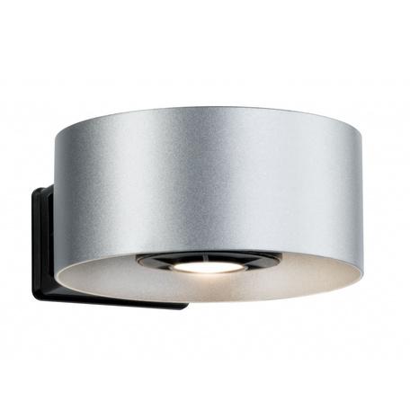 Настенный светодиодный светильник Paulmann Cone 79676, IP44, LED 8W, черный, серебро, металл