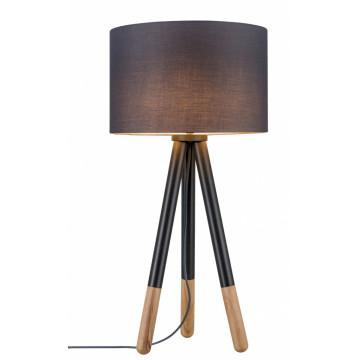 Настольная лампа Paulmann Neordic Rurik 79635, 1xE27x20W, черный, серый, металл, дерево, текстиль