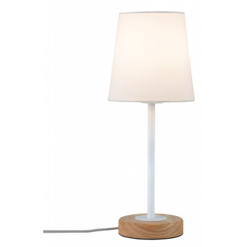 Настольная лампа Paulmann Stellan 79636, 1xE27x20W, металл, дерево, текстиль